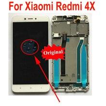 Лучший рабочий стеклянный сенсорный ЖК-дисплей, сенсорная панель, дигитайзер в сборе с рамкой для телефонов Xiaomi Redmi 4X