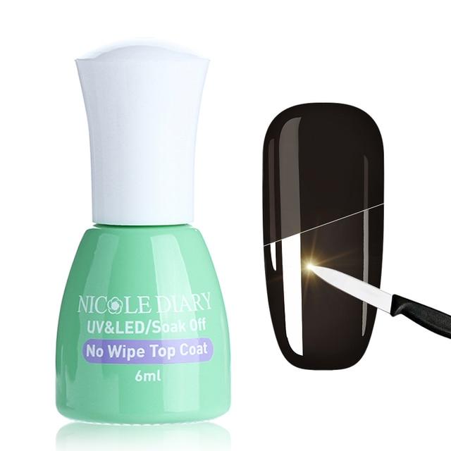 NICOLE DIARY Top Coat Gel Tempered Enhance Matte Sealer UV Primer ...