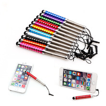 Stylus Retractable Capacitive Touchscreen Pen Diamond For iPhone iPad Tablet PC цена