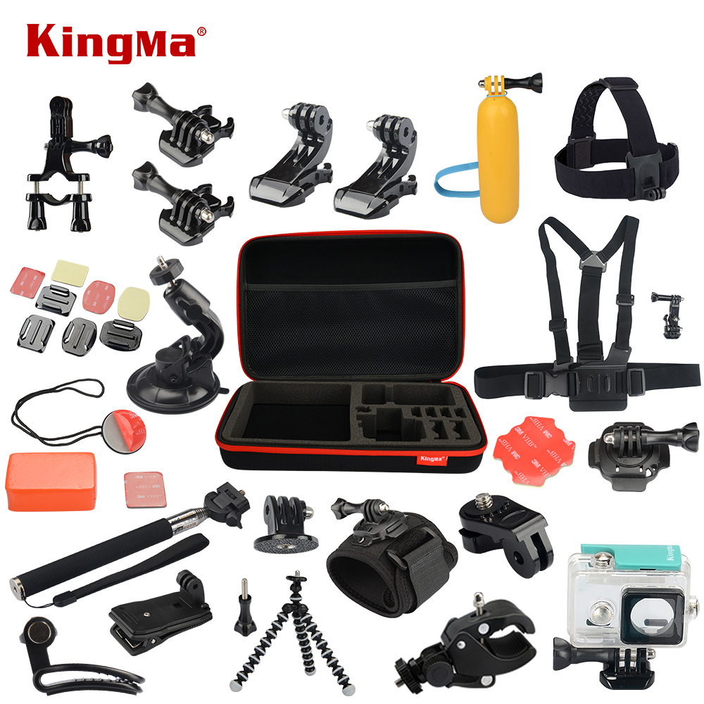 Xiaomi Yi Accessories Set Waterproof Case Protective Border Frame Chest Wrist Belt Head Strap Mount Monopod For Xiao yi Camera camera frame soft silicone case cover protective frame for gopro hero 5 action camera accessories purple
