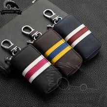 Genuine Leather Car Key Case for Lexus Audi Mercedes Peugeot Toyota Vw Skoda Bmw Hyundai Car Protector Case Covers Car Key Bag