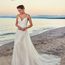 Jark Tozr Vestido Nnovia Playa Backless Beach Wedding Dress