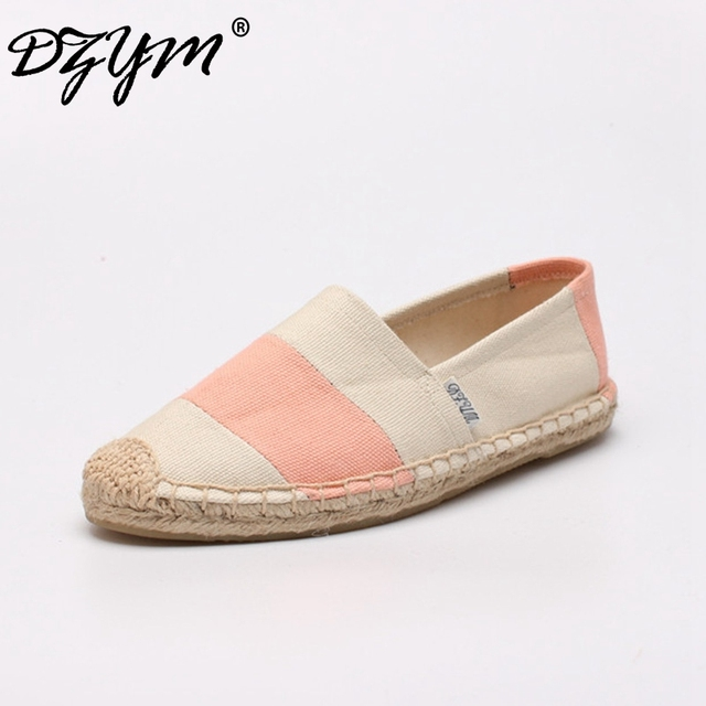 DZYM 2017 New Classic Canvas Espadrille Mixed Color Women Flats Top Quality  Footwear Breathable Moccasins Loafers f59e2f6b2a33