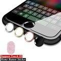 Touch id de aluminio engomada casera del botón para iphone 7/6 s/6, 7/6 S/6 Plus, SE/5S con Función de Identificación de Huellas Dactilares