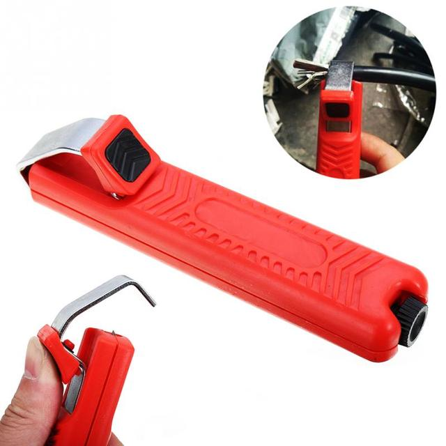 8-28mm Wire Stripper Stripping round cable insulation Cutter Plier Crimping Tool For Rubber Cable electric hand Tools