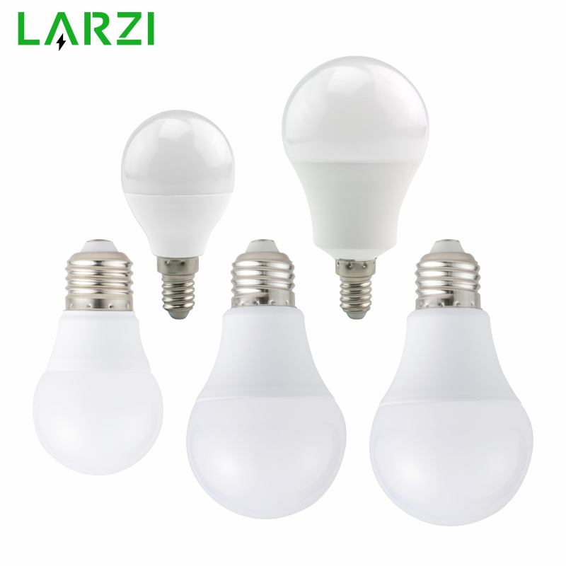 LARZI LED E27 Bulb Lamps 3W 5W 7W 9W 12W 15W AC 220V 230V 240V Light Bulb E14 High Brightness Lampada LED Bombilla SpotlightLARZI LED E27 Bulb Lamps 3W 5W 7W 9W 12W 15W AC 220V 230V 240V Light Bulb E14 High Brightness Lampada LED Bombilla Spotlight