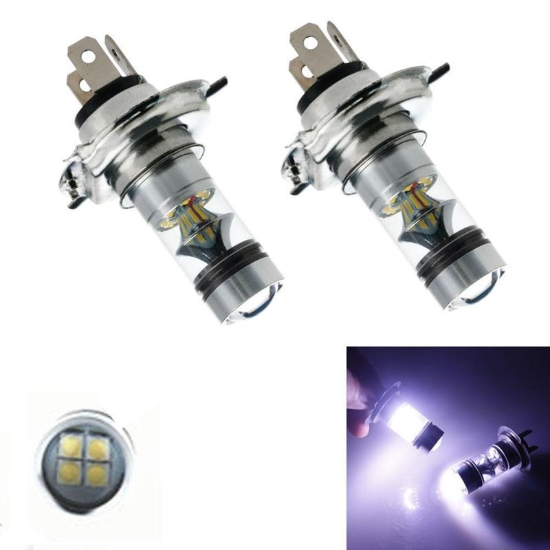 2 шт., Автомобильные светодиодные лампы 100 Вт H4 360 К 6000 градусов