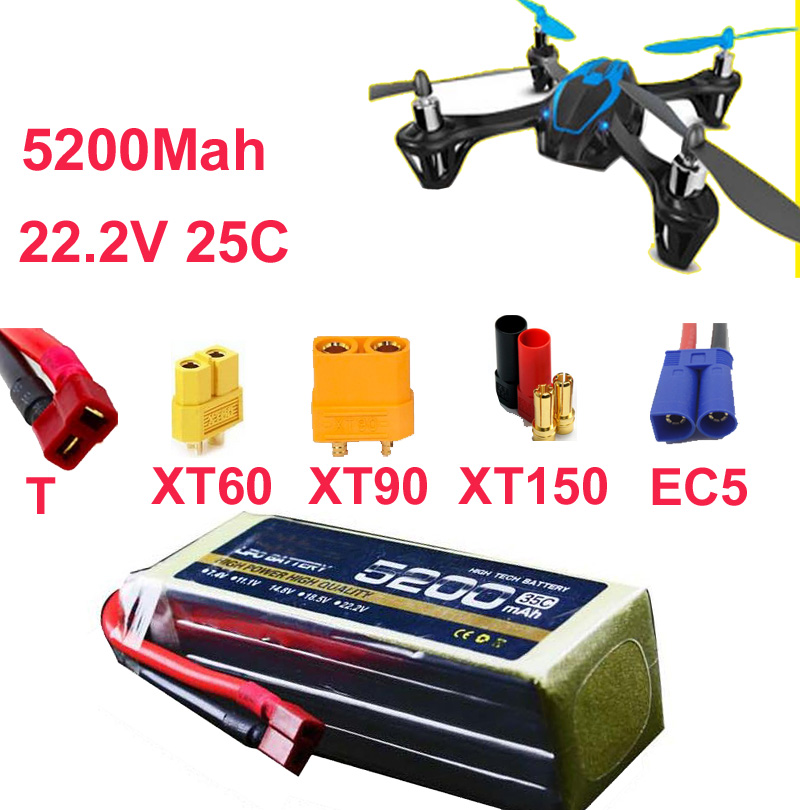 high rate battery 6s 25c 22.2v 5200mah aeromodeling battery drone li-poly battery 25C low resistance rechargeable fpv battery