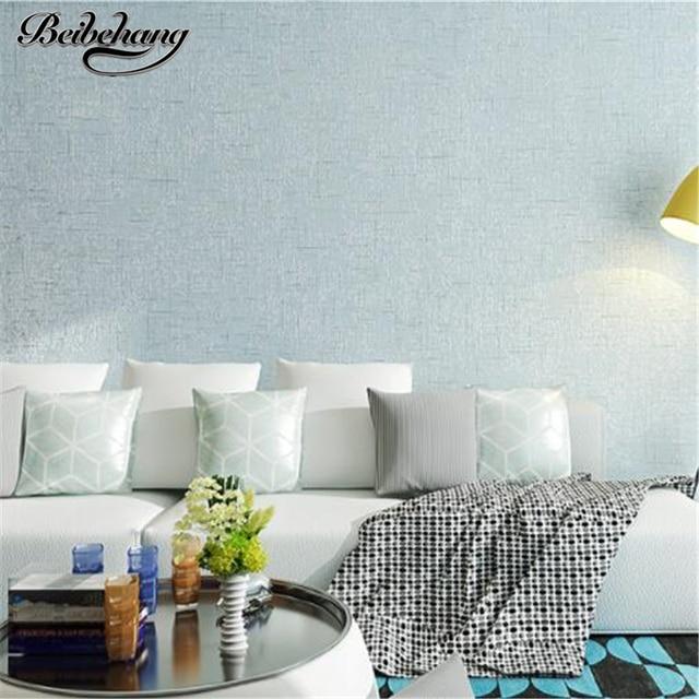 Beibehang Einfache Klar Tapete Vlies Schlafzimmer Voller Stock Reine Farbe  Mode Warme Wohnzimmer Tapete Hintergrund Wand