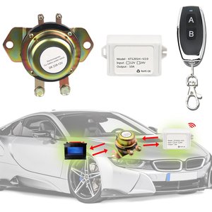 Image 2 - אלקטרומגנטית 12V רכב סוללה מתג ניתוק ממסר נעילה + שלט רחוק אוטומטי אוטומטי כוח מסוף סולנואיד