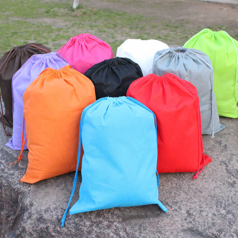 6 Colors Portable Toys Shoes Storage Pouch Bag Travel Drawstring Dust Bags Fast