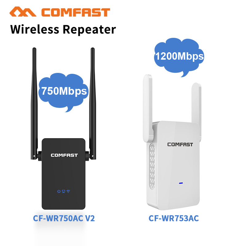 750-1200 Mbps 5.8Ghz Wifi Repeater Extender/Amplifier/Router/Access Point Gigabit Wireless Dual Band 2.4G/5G External Antennas