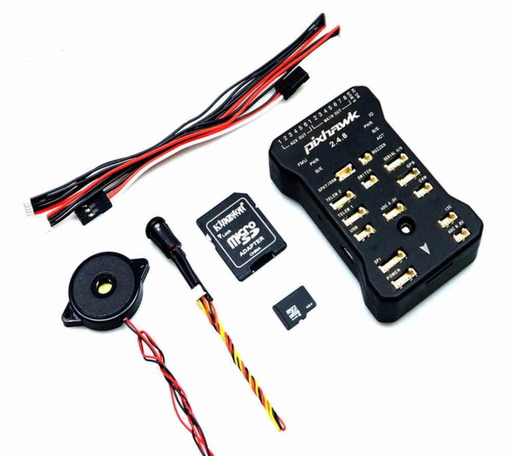 Free Shipping Pixhawk 2.4.8 PX4 Autopilot PIX 32Bit Flight Controller with Safety Switch & Buzzer for RC Airplane Multicopter