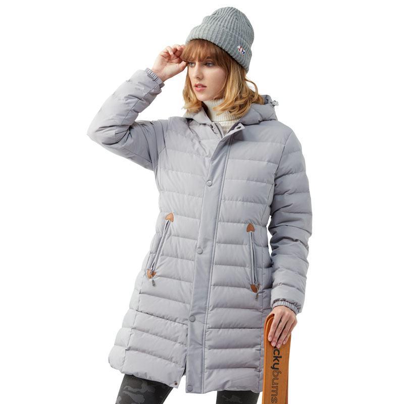 Female Winter Windstop Thermal Coat Exploration Outdoor Clothing Warm Cold Resistant Slim Long White Duck Down Jackets For WomenFemale Winter Windstop Thermal Coat Exploration Outdoor Clothing Warm Cold Resistant Slim Long White Duck Down Jackets For Women
