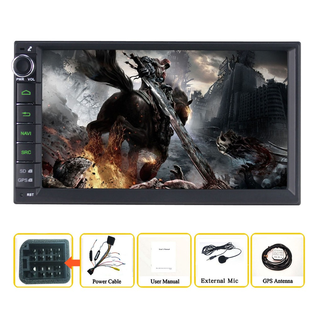 7 Double Din Android 6.0 Media Player Universal Car Radio Stereo Quad Core (2G+32GB) GPS Navigator Head Unit Steering Wheel