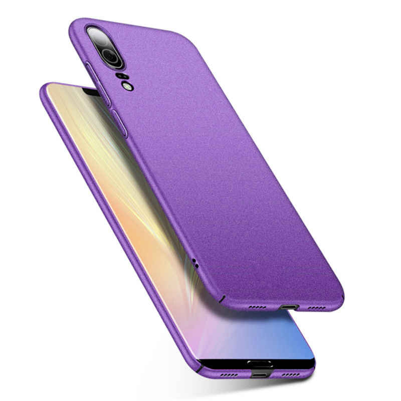 Ultra Slim Sandstone Frosted Matte Case For Huawei P20 Lite Nova 3E Hard PC Case Anti-skid Full Cover For Huawei P20 Plus P20Pro
