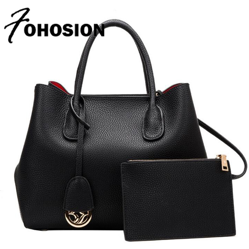 FOHOSION genuine leather bag for Ladies Handbag Casual Tote top-handle Shoulder bag Tote famous brands Women Purses And handbags monfer genuine leather slim straw tassel bag casual tote cowhide top handle bags handbags women famous brands shoulder