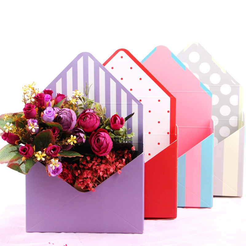 2019 New 1pcs Korean Fashion Envelope Flower Box Shop Decoration Basket Special Gift Box Flower Box Imported Custom Cardboard