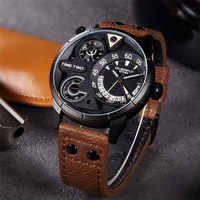 EYKI 2017 Mens Watch New Fashion Man Watches Top Brand Leather Multifunction Watch Quartz Watch Wristwatches
