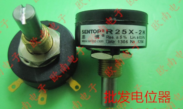 JAPAN SAKAE SENTOP precise single coil wire wound potentiometer R25X R25X-1K R25X-2K R25X-5K R25X-10K 1K 2K 5K 10K WDX25 switch niko 50pcs chrome single coil pickup screws