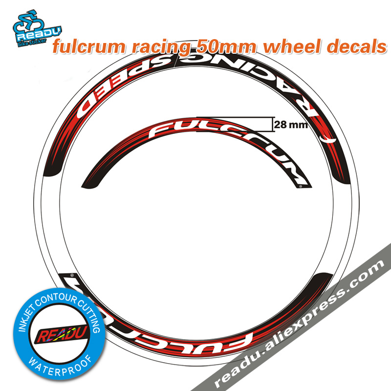 Bicycle Cycling Stickers Decals Sheet of 3 FULCRUM