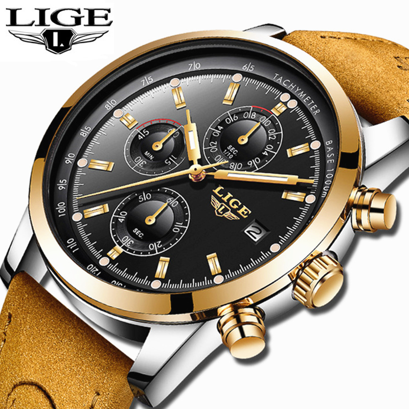 2018 LIGE Watch Men Luxury Brand Watch Fashion Men Watches Military Quartz Watch Chronograph Waterproof Clock Relogio Masculino цена
