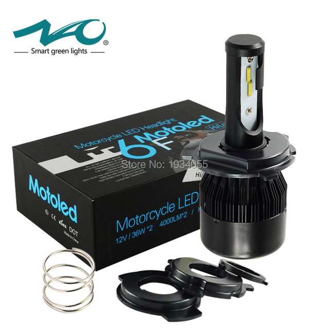 LED motorcycle headlight H4 4000LM motorbike HS1 light 36W BA20D Head lamp for ktm exc cafe racer harley NAO brand #M6F