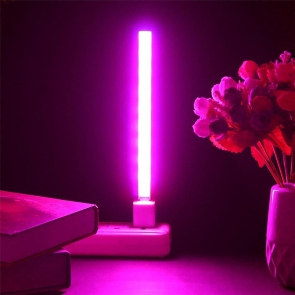 Lámpara De Crecimiento De Planta Led Usb 5 V 2,5 W Luces De Espectro Completo Cuerpo Plateado Para El Sistema Hidropónico Invernadero Planta Verde Flor De Luz