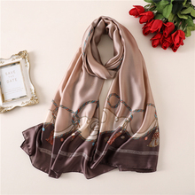 2019 high quality silk scarf for women shawls and wraps luxury brand pashmina female designer bandana stoles hijab scarves