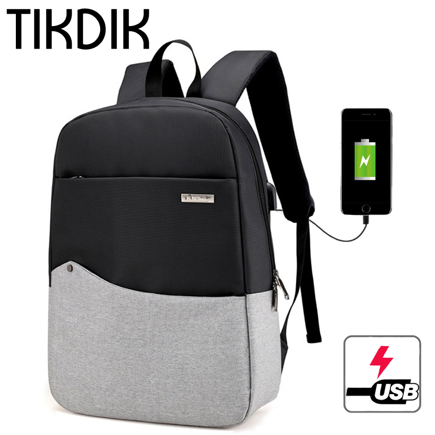 Men Laptop Backpack For 15/16 inch USB Anti-theft Computer Backpacks Oxford Canvas Patchwork Daypack Women Travel Bag Mochila students 16 inch laptop backpack women oxford shoulder bag school computer travel backpacks preppy style bags for teenagers