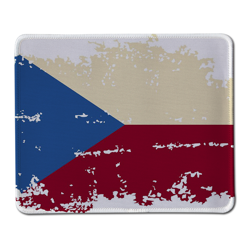 New design Czech Republic Flag Pattern Mouse Pad High quality Durable Gaming Optical Computer Mouse Mat