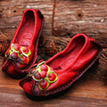 Original Handmade Autumn Women Genuine Leather Shoes Cowhide Loafers Real Skin Shoes Folk Style Ladies Flat Shoes For Mom sapato