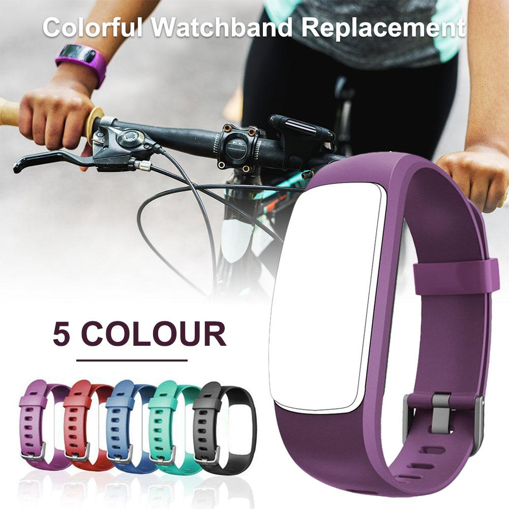 Image 4 - Silicone Smart Bracelet Adjustable Wristband Colorful Watchband Replacement Accessory For Fitness Tracker ID107 Plus HR-in Smart Accessories from Consumer Electronics