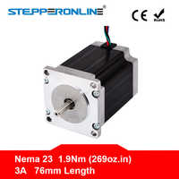 Free ship ! 1PC Nema 23 Stepper Motor 57 Motor 1.9Nm(269oz.in) 3A 76mm Nema23 Step Motor 4-lead for CNC Milling Machine