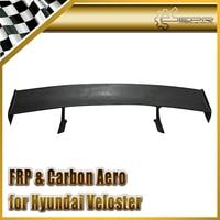 Car styling For Hyundai Veloster LP Style Wide Body FRP Fiber Glass Rear Spoiler Fiberglass Trunk GT Wing Racing Auto Body Kit
