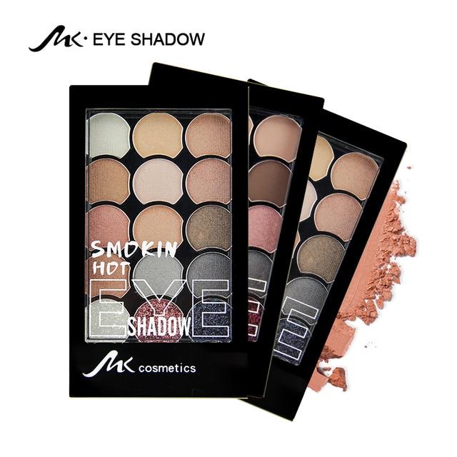МК Мода Палитра теней 15 цветов Матовая Shimmer Палитра теней блеск теней для век макияж ню макияж набор косметики