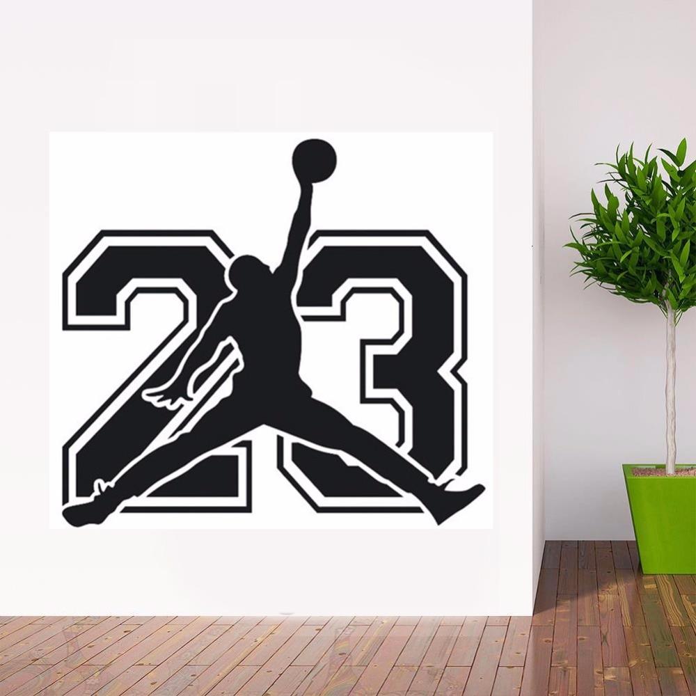 Poomoo michael jordan basketball player stickers decorative vinyl to walls decor for kids rooms wallpaper new