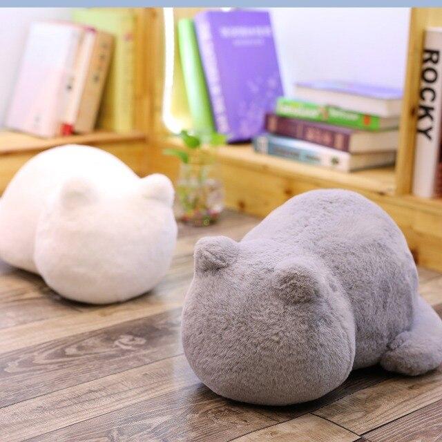 אשין חתול קטיפה כריות כרית חזרה צל חתול מלא בעלי החיים כרית צעצועי ילדים עיצוב בית מתנה לחג המולד