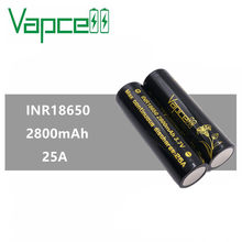 4pcs VAPCELL INR 18650 battery 2800mah 25A rewrapped VTC5D cell rechargeable battery electronic smoke box mod equal to vtc6A(China)
