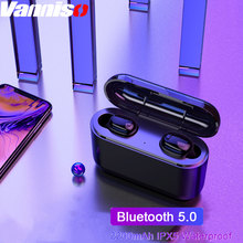 Vanniso TWS True Wireless Earbuds 5D Stereo Bluetooth Earphones Mini IPX 5 Waterproof Headfrees with 2200mAh Power Bank Earphone
