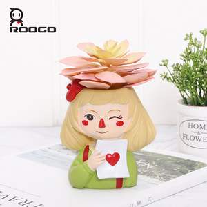 Image 3 - Roogo Ghost Horse Girl Flowerpot Playful Flower Pot For Home Garden Cute Succulents Plant Pot Decorative Flowers Pot