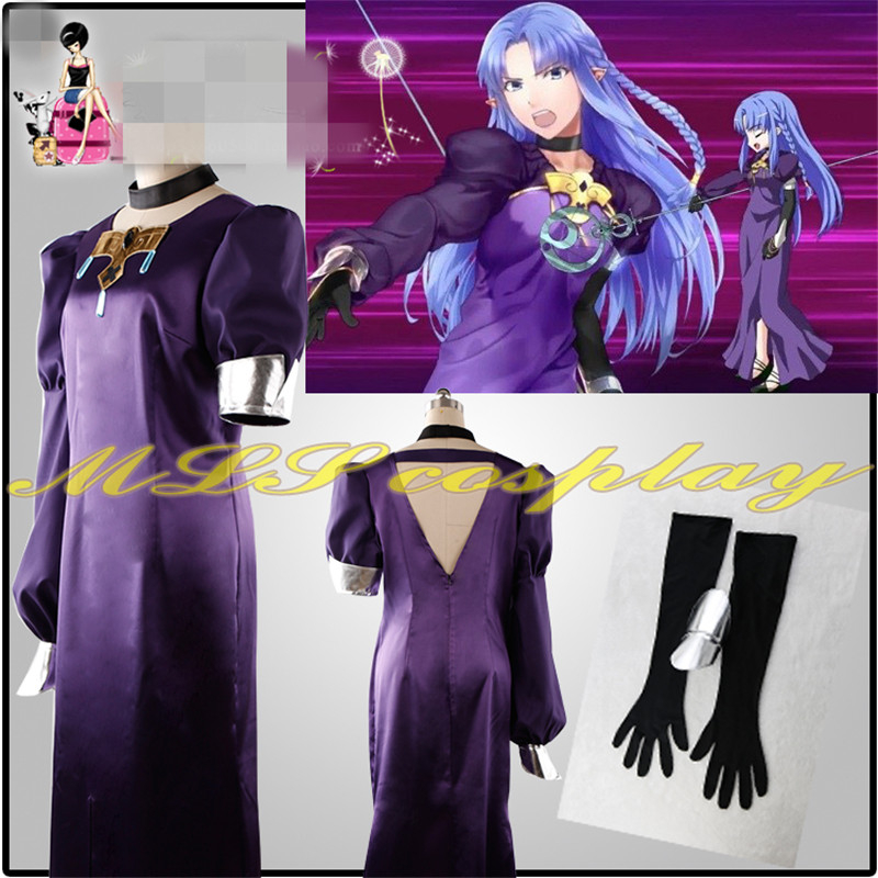 Hot Anime New Clothing Fate Medea Dress Costume Cosplay Woemn Dress D in Anime Costumes from Novelty Special Use