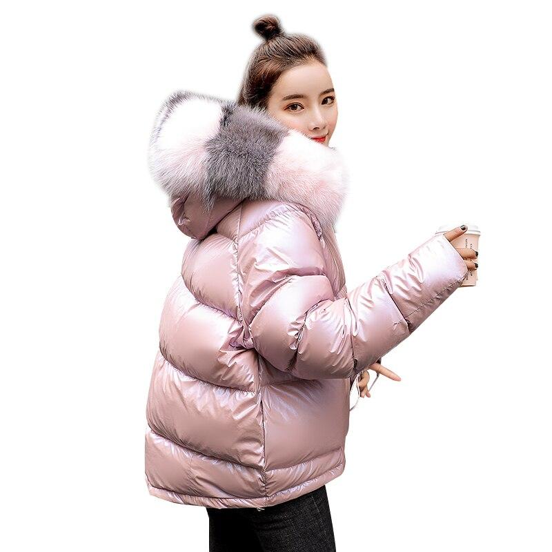 Chaud D'hiver Veste Capuche pink Long Femmes Femme Manteau Épaississent Parka Tops Coton Rembourré Black wSwd4tqp