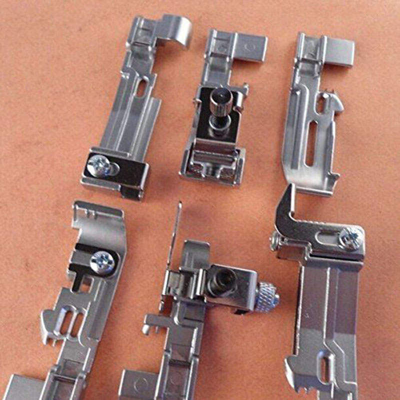 6pcs Optional Overlock Presser Feet Foot Kit For JUKI Singer Brother Dragonfly