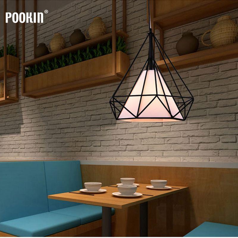 Nordic modern minimalist restaurant chandelier creative single head LED RETRO art diamond lamp цена