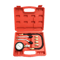 Useful Petrol Gas Engine Compressor Gauge Meter Test Pressure Compression Tester Leakage Car Diagnostic Tool Cylinder