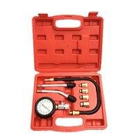 Useful Petrol Gas Engine Compressor Gauge Meter Test Pressure Compression Tester Leakage Car Diagnostic Tool Cylinder