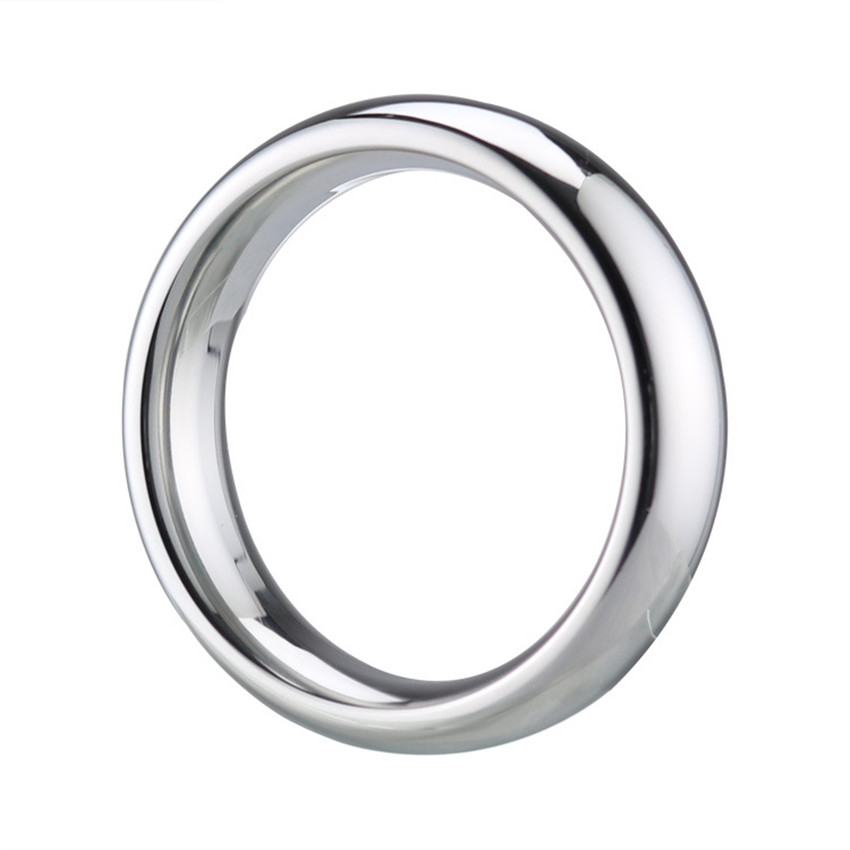 Stainless Steel Cock Rings 40/45/50mm Metal Scrotum Penis Rings Delay Spray Male Chastity Device Adult Sex Products For Man