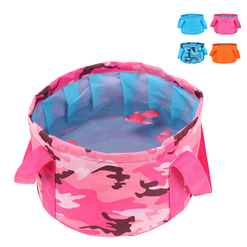 HAOCHU 15L Camping Bucket Outdoor Travel Storage bag Portable Wash Basin Waterproof Scratch-resistant Collapsible Water Bucket
