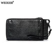 цена на Men Wallets 2019 New Fashion Casual Wallet Men Purse Clutch Bag Vintage PU Leather Wallet Long Design Handbag For Man Wholesale